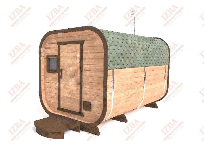 角丸四角形樽サウナ3.5m ¥1,520,000